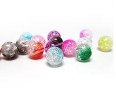 100X 8mm Mixed Colour Acrylic Spacer beads