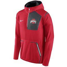 Ohio State Buckeyes Nike Alpha Fly Rush Half-Zip Pullover Jacket - Scarlet