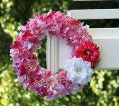 Pretty rag wreath #ragwreath