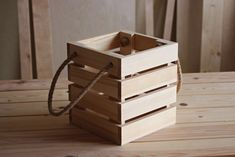 Wooden box #creatum Hamper, Wooden Boxes, Organization, Toys, Home Decor, Crate, Wood Boxes, Getting Organized, Activity Toys