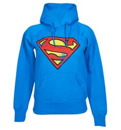 Ladies Classic Superman Logo Hoodie