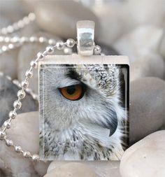 Scrabble Tile Pendant Owl Pendant Owl Necklace With Silver Ball Chain Bottle Cap Jewelry, Bottle Cap Necklace, Bottle Cap Art, Bottle Cap Crafts, Owl Necklace, Diy Magnets, Scrabble Tiles, Owl Pendant, Esty