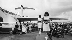 Before TSA and luggage fees, flying was about luxury and glamour. View vintage photos from the golden age of travel.