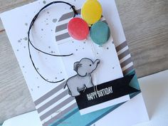 Kirsty is our hostess for this week's challenge at City Crafter The t. Kites, Kids Cards, Balloons, Elephant, Stationery, Happy Birthday, Paper Crafts, Rose, Stationeries