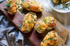 Twice-Baked Potatoes with Mushrooms and Prosciutto