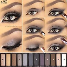 """Eye Makeup - """"A Saturday evening tutorial for this intense eye using the Naked Smoky palette. This placement of the shadow helps to create an…"""" - Ten Different Ways of Eye Makeup Eye Makeup Tips, Smokey Eye Makeup, Skin Makeup, Eyeshadow Makeup, Beauty Makeup, Makeup Ideas, Summer Eyeshadow, Makeup Tutorials, Eyeshadow Tutorials"""