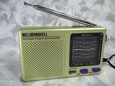 Sold Vintage BELL & HOWELL fm/mw/sw 9 Band World Receiver Portable Radio shortwave