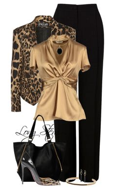 A fashion look from April 2017 featuring Marni, high-waisted pants and leather sandals. Browse and shop related looks. Classy Outfits, Chic Outfits, Peach Outfits, Fashion Pants, Fashion Outfits, Womens Fashion, Peach Clothes, White Dress Outfit, Professional Outfits