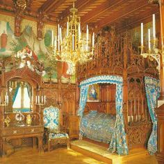 King's Bedroom, Schloss Neuschwanstein, Bavaria, Germany