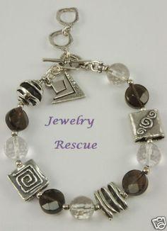 Silpada B1275 Smoky Quartz Crystal Bracelet Sterling Silver Retired