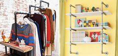 19 Ideias geniais para decorar e mobiliar sua casa utilizando tubos de metal