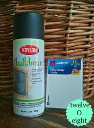 How To Make Chalkboard Labels -Im in love with this idea. Using it for canisters/ ball jars.