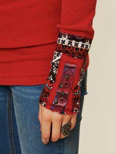 Embellished cuffs