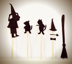 Making shadow puppets to accompany your favorite stories!