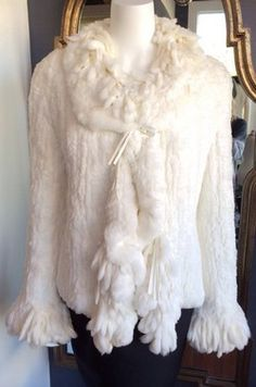 Cache Rabbit Fur Jacket Size L Our Price: $314.30 One Savvy Design Consignment Boutique 74 Church Street, Montclair, NJ 973-744-0053 www.onesavvydesign.com