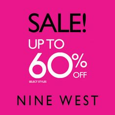 Sale season is in full swing! Get upto 60% off on select styles at Nine West.