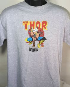 Marvel The Mighty Thor Mens Size Medium Graphic T Shirt #Marvel #GraphicTee
