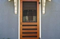 Red River Restorations specializes in the creation, replacement, and restoration of screen doors Custom Screen Doors, Wooden Screen Door, Diy Screen Door, Front Door With Screen, Great Openings, Grill Design, Red River, Wood Creations, Door Opener