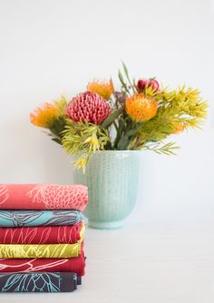 Design Team creates feel good fabrics that are influenced by people and cultures within South Africa, offering fabric per meter, made up products and wallpapers