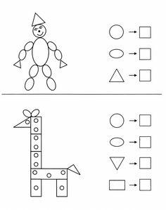 Напиши, сколько геометрических фигур присутствует на рисунке Math Addition Worksheets, Geometry Worksheets, School Worksheets, Preschool Learning, Craft Activities For Kids, Teaching, Art Drawings For Kids, Kids Education, Geometric Fashion