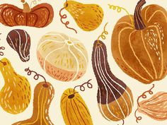 Autumn Gourds by Van Huynh