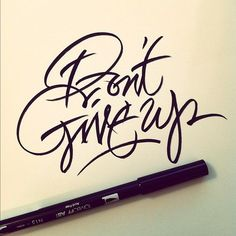 """Inspired by gestural writing lately, not as mainstream a style of lettering & a bit harder to fine tune. Aside from the weird """"u"""" I'm liking this."""