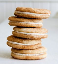 Snickerdoodle Sandwich Cookies, by Mimi's Cookie Bar on Scoutmob Christmas Treats, Christmas 2015, Christmas Candy, Merry Christmas, Xmas, Cookie Recipes, Dessert Recipes, Delicious Desserts, Yummy Food
