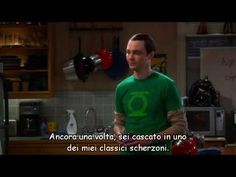 Dr. Sheldon Cooper and his first Bazinga! (The Big Bang Theory, 2x23)