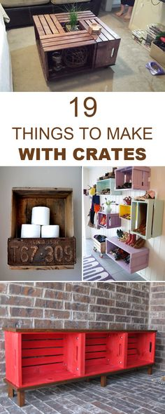 Wooden Pallet Furniture 20 Rustic DIY and Handcrafted Accents to Bring Warmth to Your Home Decor 17 Simple Diy Furniture, Bookshelves Diy, Home Crafts, Home Decor, Wood Diy, Crate Furniture, Wooden Pallet Furniture, Home Diy, Wooden Crate
