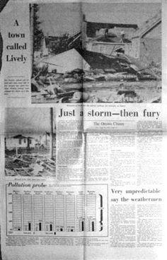 1970 Ottawa Citizen reports Lively (Sudbury) Tornado - R Orville Lyttle c