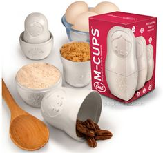 Nesting measuring cups! I love these things. Also, they make making cinnamon sugar super easy . . . (OWN)