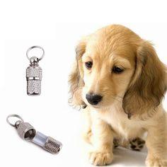 Etiquetas de identificación de mascotas perro anti-perdida tubo barril etiqueta de dirección