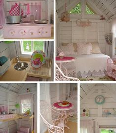 This adorable playhouse from Restyled Home has already made the blog rounds, and I can understand why. It's just perfect! In such a tiny space every detail becomes an opportunity to be crafty. Check out Linda MacDonald's blog to see more pictures and read about the process.