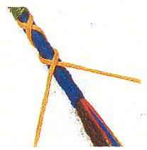 photo of cross braid in yarn