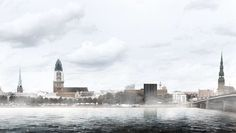 Baltic Way Memorial design competition render, in collaboration with Stephan Shen