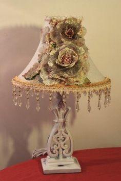 Shabby Chic/ Cottage style Lamp & Decorative by raesdesignerlamps, $250