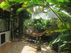 The private Balinese garden off the main bedroom