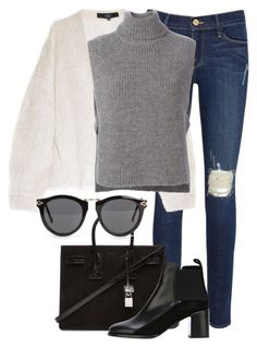 """""""Untitled #2221"""" by rosyfilm ❤ liked on Polyvore featuring Frame Denim, TIBI, Étoile Isabel Marant, Yves Saint Laurent, See by Chloé and NLY Accessories"""