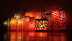 lanterns - Created on a larger scale, can be used as set.