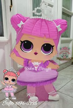 Fun Crafts For Kids, Diy And Crafts, Diy Birthday, Birthday Parties, Lol Doll Cake, Princess Theme Party, Doll Party, Lol Dolls, First Birthdays