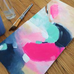 Sketchbook paint studies.