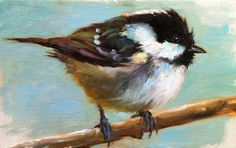 Palm Warbler   Totally charmed by bird painting, I just go with the flow, and keep an eye on bird painters. Etsy.com is usually one of th...