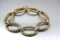 Sterling Mesh Bracelet Braided Sterling by TonettesTreasures
