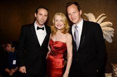(L-R) Alessandro Nivola, Patricia Clarkson and Patrick Wilson  attend the 68th Annual Tony Awards at Radio City Music Hall on June 8, 2014 i...