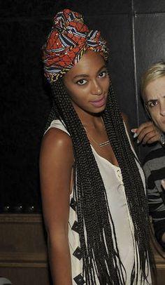 poetic justice braids + the batik headwrap = dope summer look