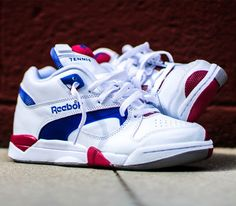 Reebok Court Victory Pump – White / Royal – Crimson