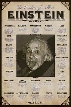 Albert Einstein - Quotes - Official Poster - elevationmusic