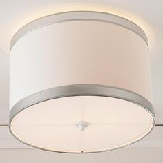 Clip On Ceiling Shade To Cover Bare Bulb Basement