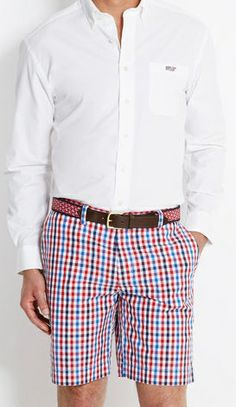 Really don't like the long sleeve button shirt with shorts - much better with a short sleeve polo !