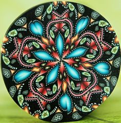 Kaleidoscope Polymer Clay Cane 'Starflower'